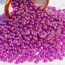 Acrylic Flat back Half Pearls - 3 4 5 6 8 & 10mm purple VIOLET